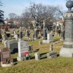 collection of graves at Weehawken cemetery